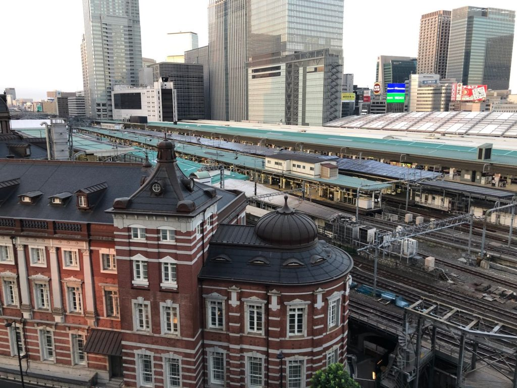 Tokyo station from KITTE