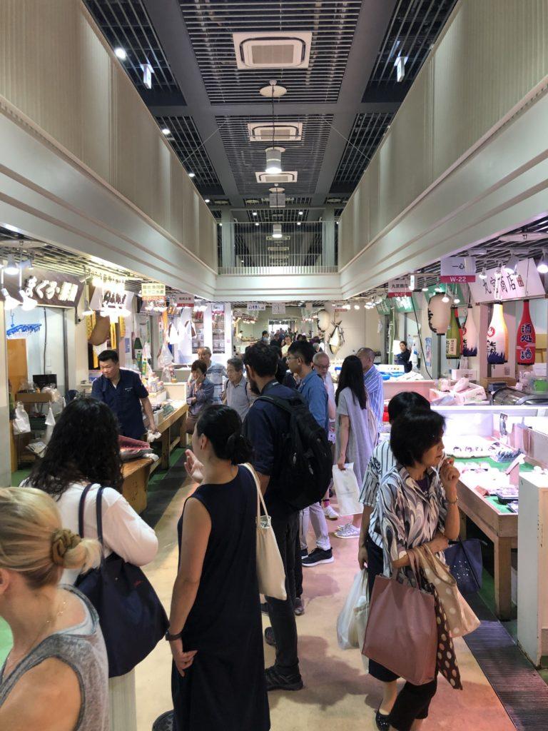 Tsukiji market with kids
