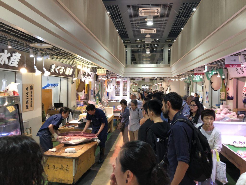 Tsukiji market Uogashi